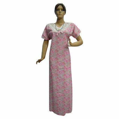 Cotton Ladies Nighty Gown f04b8ee19
