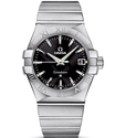 Omega Men Black Dial Watch