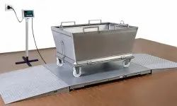 Low Profile Weighing Scales with Two Side Ramp