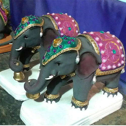 Fiber Decorative Elephant Statue
