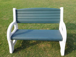 Garden Bench Plastic - 4' Long