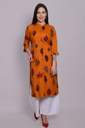 Rayon Kurti With Handwork