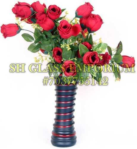 Floral Glass Flower Vases, Size: Medium, Shape: Round Shaped