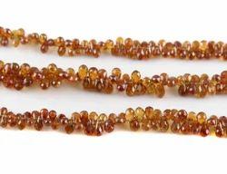 Hessonite Garnet Tear Drops Faceted Beads