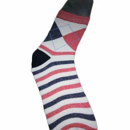 a70fecaae White And Black Cotton Men  s Ankle Length Socks