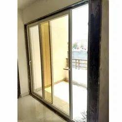 Pristine White Powder Coated UPVC Sliding Door