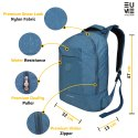 Eume Sapphire 20 Ltrs Nylon Massager Backpack, Casual Water Resistant Laptop Backpack Ideal for Coll
