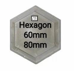 Hexagon Silicone Plastic Paver Mould