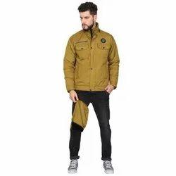 Roboskin Olive Green Mens Full Sleeve Jacket