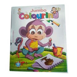 3 To 5 Yr Jumbo Colouring Pre School Colouring Book, Packaging Type: Packet