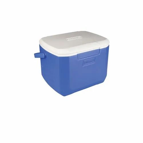 28 Quart Cooler W// Bail Handle Blue Ice Chest Holds 36 Soda Cans Camping Picnic