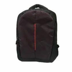 Black 15.6 Inch Polyester Laptop Backpack