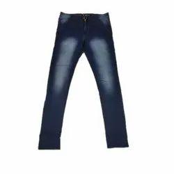 Plain Regular Fit Mens Blue Denim Jeans, Waist Size: 28-36