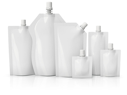White Spout Pouch, Size: 100-1000  mL, Packaging Type: Box