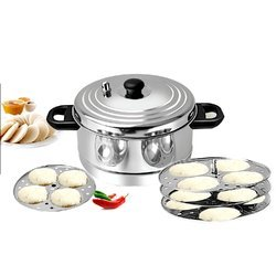 BMS Lifestyle 5-Plates Stainless Steel Idly Maker, Steamer