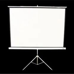 White Projection Screen with Tripod Stand (4:3) - PSD-T43-084, Screen Size: 84 Inch