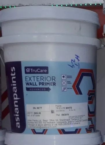 High Sheen White Asian Paints Trucare Exterior Wall Primer Advanced Packaging Size 20lt Rs 2700 Drum Id 22405067573