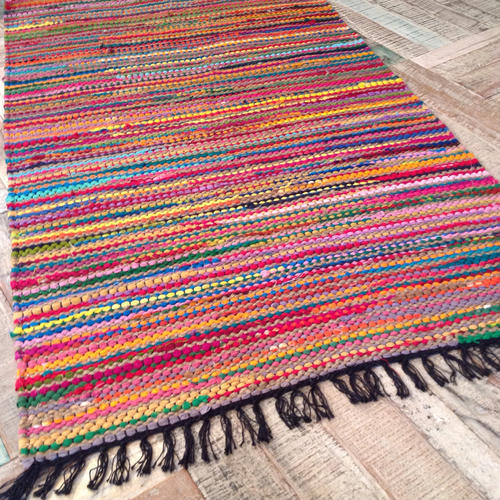 Rag Rug Prices: Multicolor Chindi Rag Rugs, Rs 250 /piece, Shabana Exports