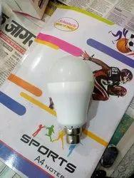 Ceramic Round 9 Watt A/C D/C LED Bulb, Under 10V