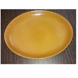 Ceramic Round Serving Platter for Home and Hotel, Packaging Type: Box