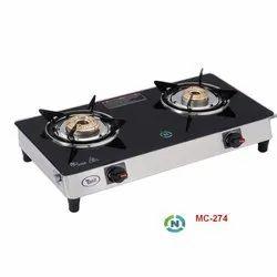 MC-274 Glass Two Burner Stove