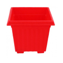 10 Inch Red Square Planter