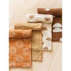 Alpha Casual Wear Organic Muslin Cotton Swaddle Baby Wrap, Size: 120 X 120 Cm