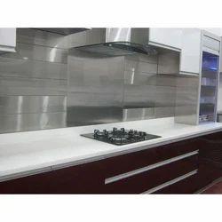 Stainless Steel Acrylic Modular Kitchen, Warranty: 1 Year, Kerela