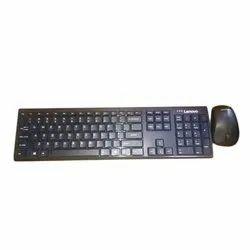 Black Wireless Lenovo Computer Keyboard