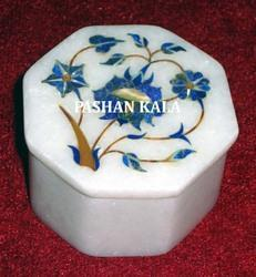 Marble Inlay Box in Octagonal Shape