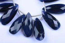 Blue Cats Eye Quartz Pear Beads