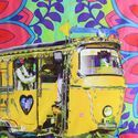Neon Yellow Taxi Glaze Cotton Cushion Cover