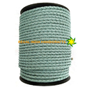 Baby Blue Braided Leather Cord-156