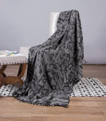 Black Tie Dye Printed Cotton Mud Cloth Throw