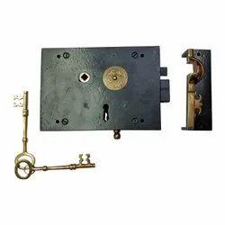 Barjona Black Antique Iron Rim Lock
