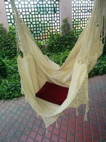 fabric hammock chair with natural crochet fabric hammock swing chair   brazilian sitting hammock chair      rh   indiamart