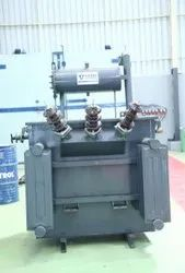 22 Kv / 433 V Oil Cooled 200 KVA Rental Transformer, Rated Capacity: Off - Circuit, For Domestic / Industrial