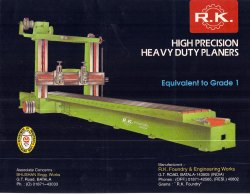 EXTRA HEAVY DUTY  PLANNING MACHINE FOR RAIL MAKING