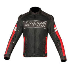 Red And Black Full Sleeve Mens Riding Jacket