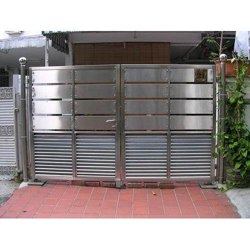 304 Grade Stainless Steel Main Gate. 304 Grade Stainless Steel Main Gate  SS Door   Sameer Steel Design