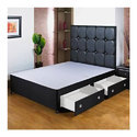 Wooden Black Double Bed