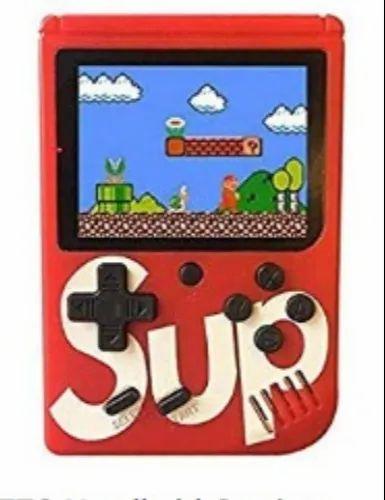 Red Plastic Super Mario Video Game Console