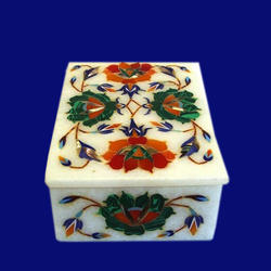 Marble Box With Inlay Work