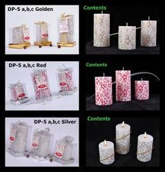 Designer Paper Work Pillar Candle