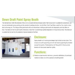 Down Draught Paint Booth