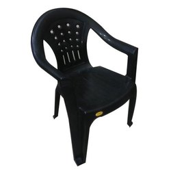 Black Plastic Garden Chair