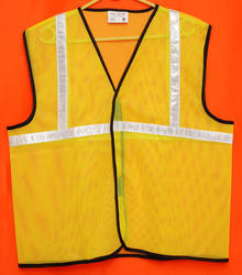 Reflective Vizwear Vests / Jackets 1 Green Front Opening In Mesh Fabric (v-5)