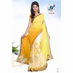 Fancy Embroidered Georgette Sarees