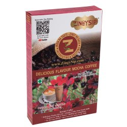 Zingysip Delicious Mocha Coffee  (100 Gm ) - Serve Hot Or Cold