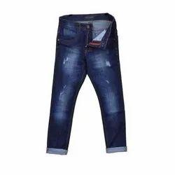 Casual Wear Faded Blue Mens Denim Jeans, Waist Size: 28-36
